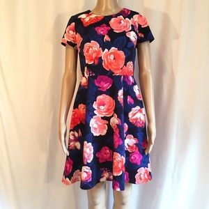 Eliza J Fit and Flare Floral Dress
